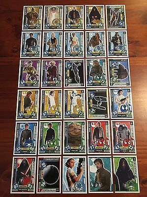 Star Wars - Force Attax 2017 (TOPPS collector cards) 30 x Cards Mixed Lot #2.