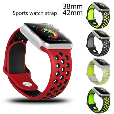 Pro 38/42mm Silicone Bracelet Sport Soft Strap Wrist Band For Apple Watch iWatch