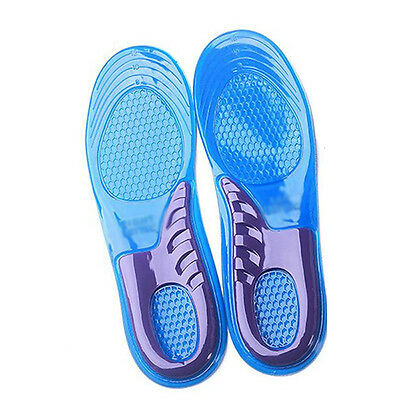 Work Boots Gel Insoles Shoe Inserts Orthotic Arch Support Pads Massaging Feet#B