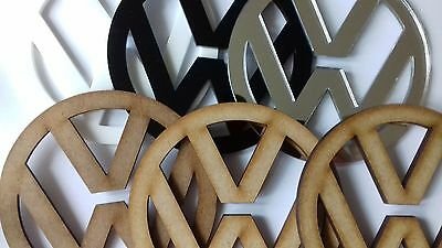 Laser Cut VW Volkswagen Emblem Logo MDF or Acrylic Various Sizes for Conversions