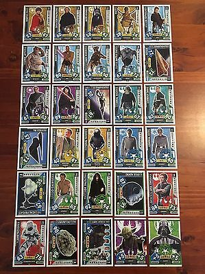 Star Wars - Force Attax 2017 (TOPPS collector cards) 30 x Cards Mixed Lot #6.