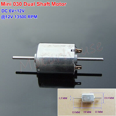 DC 6V 12V 13500RPM Mini 030 Electric Motor Double 13MM Shaft DIY Hobby Toy Model
