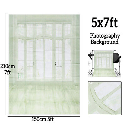 UK 5x7FT European Window Floor White Photography Backdrop Wedding Background