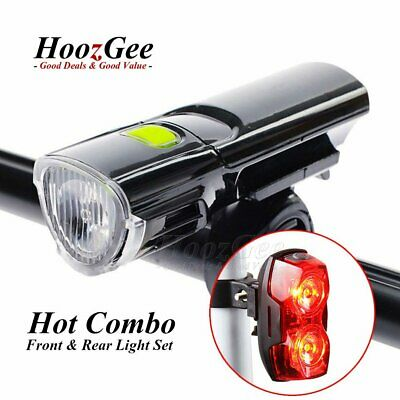 Mountain Bike Bicycle Cycling Flash Head Front Rear Tail Lights Lamp Set Kit New