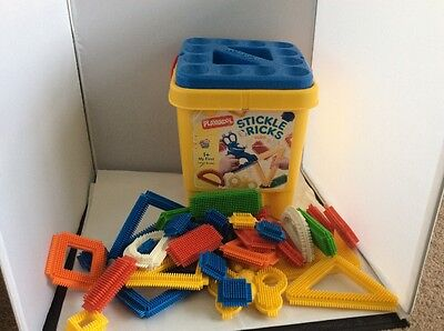 Playskool Large Bucket Of Stickle Bricks Excellent Condition Outside Toy