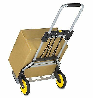 Mount-It! Folding Hand Truck and Dolly, 264 Lb Capacity Heavy-Duty Luggage Troll