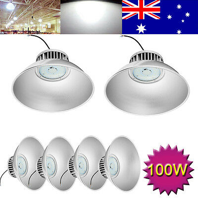 6X 100W LED High Bay Lighting Light Warehouse Industrial Factory Commercia Lamp