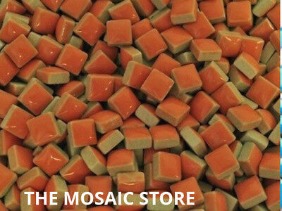 Orange Square Ceramic Tiles 1cm - Mosaic Art Craft Tiles Supplies