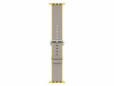 Genuine Apple MNK72ZM/A 38mm Yellow/Light Grey Woven Nylon For apple Watch 1/2
