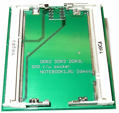 laptop DDR2 DDR3 DDR3L SPD eeprom adapter for programmer