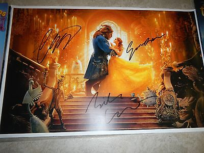 Disney Beauty and the Beast Emma Watson signed poster 11x17