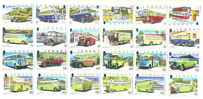 Jersey-Buses complete collection 24 stamps (4 sets)mnh-unmtd