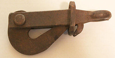 "Vintage Antique 6"" Iron Pelican Hook"