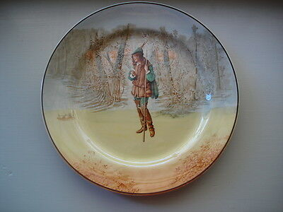 Antique Vintage Porcelain China Royal Doulton Rosalind Shakespeare Large Plate
