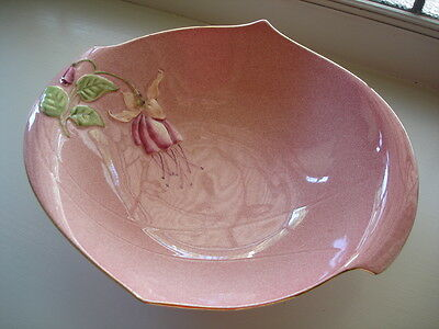 Antique Vintage Porcelain China Royal Winton Pink Fuschia Footed Bowl Rare