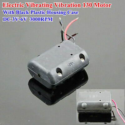 Black Shell DC 3V-6V 3100RPM Vibrating Vibration Motor for Massage Cushion DIY
