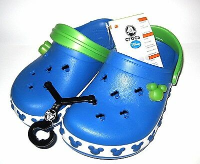 NEW✿Walt Disney World Authentic Mickey Mouse Crocs BLUE✿Summer Beach Sandal J2