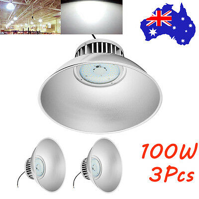 3X 100W LED High Bay Light Office Warehouse Commercial Industrial Factory Lamp