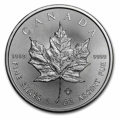 2017 1oz Canadian Silver Maple leaf coin with Micro Engraved Security Feature