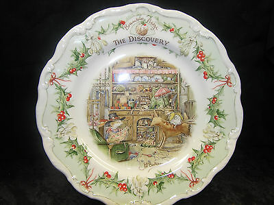 """Royal Doulton Brambly Hedge 8"""" Wall Plate The Discovery 1St Quality Midwinter"""