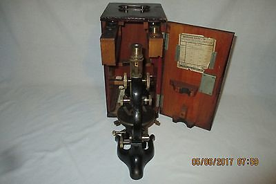 Excellent Ernst Leitz  Wetzlar Microscope Outfit w/Case, Objectives, Eye Pieces