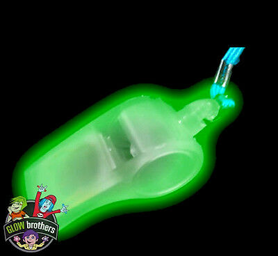 Glow In The Dark Whistles With Lanyard, Uv Reactive. 1, 6, 12, 24, 48, 96,144