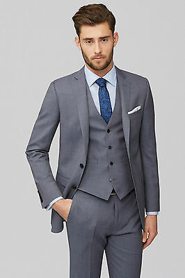 New Mens Grey 3 Piece Wedding Suits Best Man Groomman Formal Tuexdos Custom Made