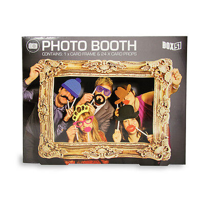 Photo Booth Box51  24 Props and a Frame