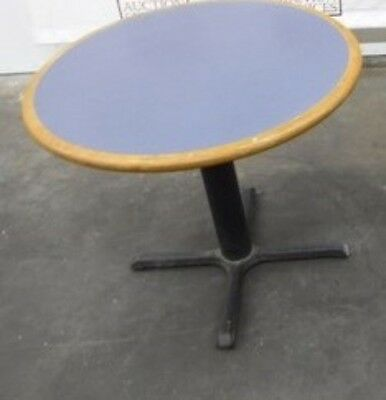 "Restaurant Equipment 36"" TABLE TOP WITH BASE Wedgewood Blue Formica"