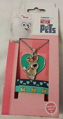 The Secret Life Of Pets Pendant and Bracelet Set