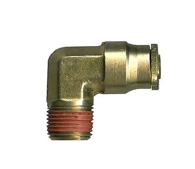 1/4 OD Tube x 1/4 Npt Male Elbow Push to Connect Auto Fitting Air Ride Brake