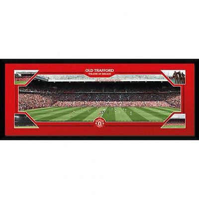 """Manchester United F.C - 30"""" x 12""""  Framed Picture """"OLD TRAFFORD"""""""