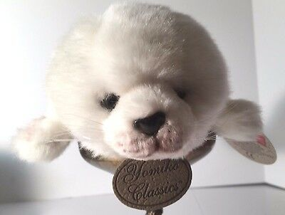 "New With Tags Russ Berrie Yomiko Classics White Plush 10"" Harp Seal"