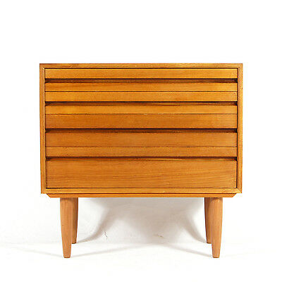 Retro Vintage Danish Scandinavian Teak Low Wide Chest of Drawers 50s 60s 70s