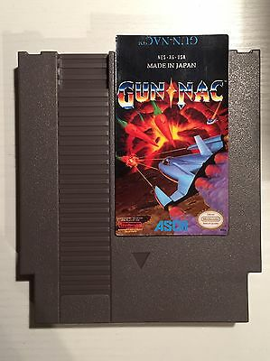 GUN-NAC - NES Game - Professional Replacement Label Ersatz Aufkleber - Nintendo