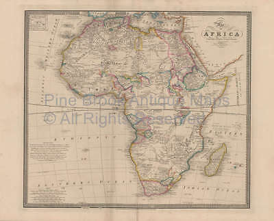 Africa Vintage Map Original African Decor Housewarming Gift Ideas Wyld 1863
