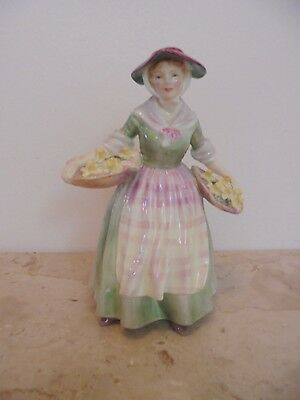 "Vintage Royal Doulton Fine Bone China Figurines ""daffy Down Dilly"" Hn 1712"