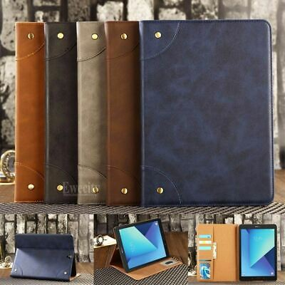 Folio Retro Wallet Leather Stand Magnetic Case Cover For Samsung Galaxy Tablet