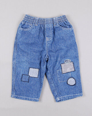 Pantalón vaquero de parches color Denim oscuro marca Pick Quic 12 Meses