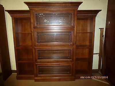 Hooker Furniture Leaded Glass Barrister Bookcase Wall Unit