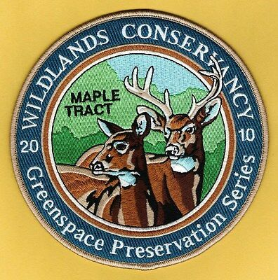 "Pa Game Fish Commission NEW 2010 Wildlands Conservancy Whitetail Deer 6"" patch"