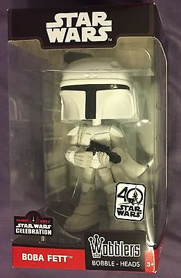 Star Wars Celebration Orlando 2017 Funko Wobblers Boba Fett Free S&h