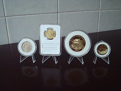 20X Clear Acrylic Round/Square Case Box Holder Coin Display Stand Easel 30-80MM