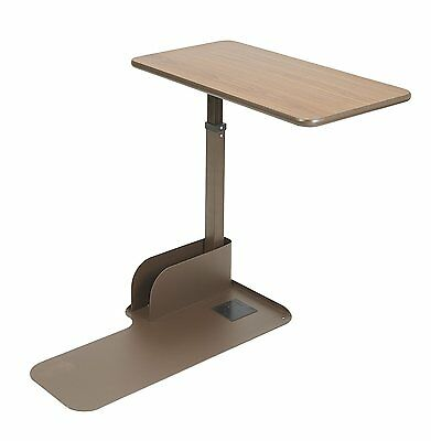 Drive Medical ln Seat Lift Chair Left Side Overbed Table, Walnut