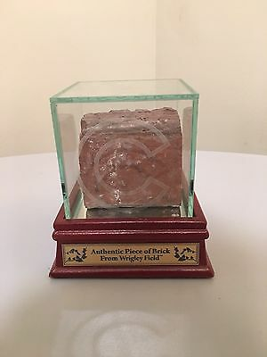 Wrigley Field Authentic Brick with Etched Display Case 2016 World Champs