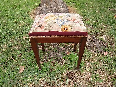 Vintage Mid Century Upholstered Piano,bedroom,foot Stool