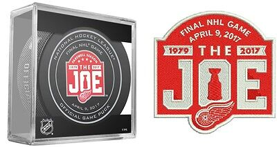 2016-17 Detroit Red Wings April 9Th Farewell Puck & Patch Combo 2 Items The Joe