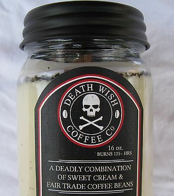 DEATH WISH COFFEE BEAN ORGANIC FAIR TRADE CANDLE Made in USA  Deathwish Co. BEST