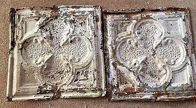 Two 12 x12 Vintage ceiling tins from old building in Downtown Wichita falls
