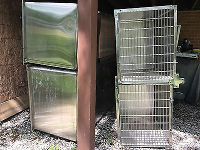 5 units Ken Kage stainless steel animal cages/kennel in perfect condition